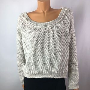 Free People cotton blend knit off white sweater M
